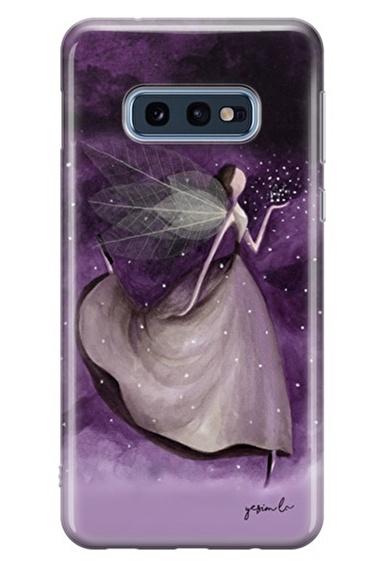 Lopard Samsung Galaxy S10E Kılıf Mor Peri Kapak Renkli